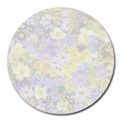 Spring Flowers Soft 8  Mouse Pad (Round)