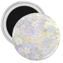 Spring Flowers Soft 3  Button Magnet