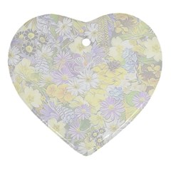 Spring Flowers Soft Heart Ornament