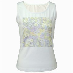 Spring Flowers Soft Womens  Tank Top (White)