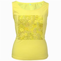 Spring Flowers Soft Womens  Tank Top (Yellow)