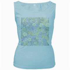 Spring Flowers Soft Womens  Tank Top (Baby Blue)