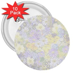 Spring Flowers Soft 3  Button (10 pack)