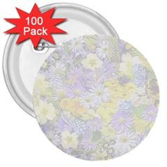 Spring Flowers Soft 3  Button (100 pack)