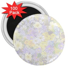Spring Flowers Soft 3  Button Magnet (100 Pack)