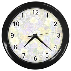 Spring Flowers Soft Wall Clock (black)