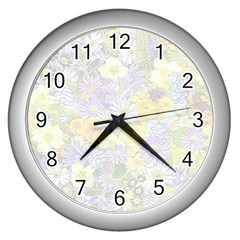 Spring Flowers Soft Wall Clock (Silver)