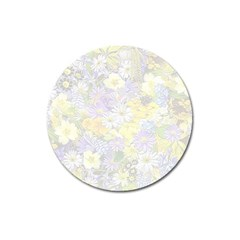 Spring Flowers Soft Magnet 3  (Round)