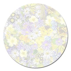 Spring Flowers Soft Magnet 5  (Round)