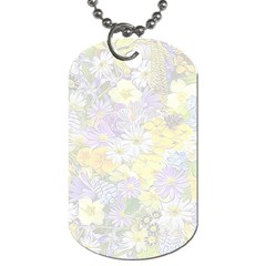 Spring Flowers Soft Dog Tag (one Sided)