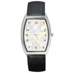 Spring Flowers Soft Tonneau Leather Watch