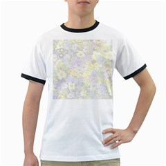 Spring Flowers Soft Mens' Ringer T Shirt
