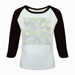 Spring Flowers Soft Kid s Long Cap Sleeve T-Shirt