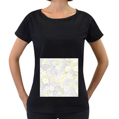 Spring Flowers Soft Womens' Maternity T Shirt (black)