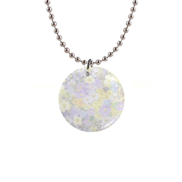 Spring Flowers Soft Button Necklace