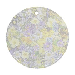 Spring Flowers Soft Round Ornament (Two Sides)