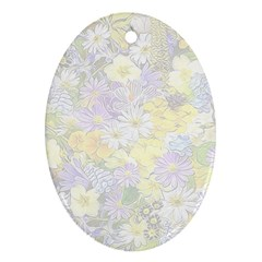 Spring Flowers Soft Oval Ornament (Two Sides)