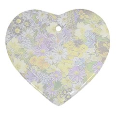 Spring Flowers Soft Heart Ornament (Two Sides)