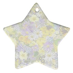 Spring Flowers Soft Star Ornament (Two Sides)