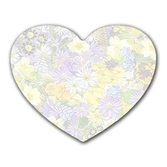 Spring Flowers Soft Mouse Pad (Heart)