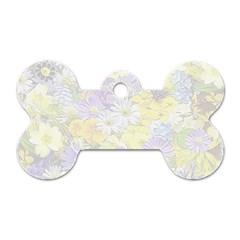 Spring Flowers Soft Dog Tag Bone (One Sided)