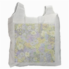 Spring Flowers Soft Recycle Bag (one Side)