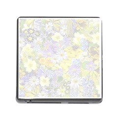 Spring Flowers Soft Memory Card Reader with Storage (Square)