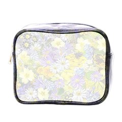 Spring Flowers Soft Mini Travel Toiletry Bag (One Side)