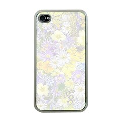 Spring Flowers Soft Apple iPhone 4 Case (Clear)