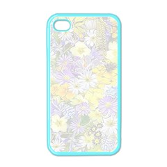 Spring Flowers Soft Apple Iphone 4 Case (color)