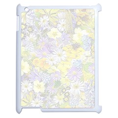 Spring Flowers Soft Apple iPad 2 Case (White)