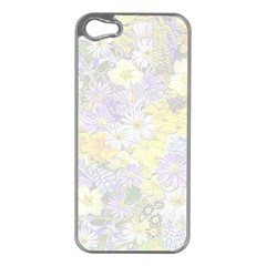 Spring Flowers Soft Apple iPhone 5 Case (Silver)