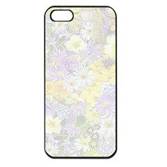 Spring Flowers Soft Apple iPhone 5 Seamless Case (Black)
