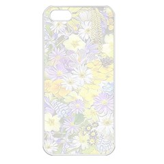Spring Flowers Soft Apple iPhone 5 Seamless Case (White)