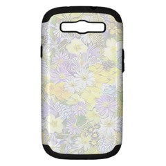 Spring Flowers Soft Samsung Galaxy S III Hardshell Case (PC+Silicone)