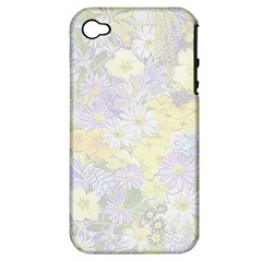 Spring Flowers Soft Apple Iphone 4/4s Hardshell Case (pc+silicone)