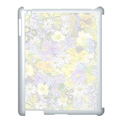 Spring Flowers Soft Apple iPad 3/4 Case (White)