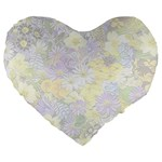 Spring Flowers Soft 19  Premium Heart Shape Cushion Front