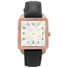 Spring Flowers Soft Rose Gold Leather Watch