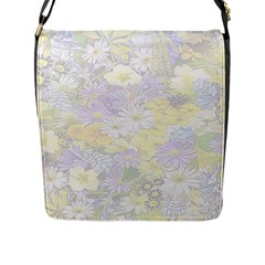 Spring Flowers Soft Flap Closure Messenger Bag (Large)