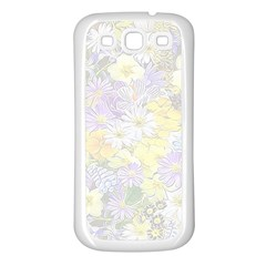 Spring Flowers Soft Samsung Galaxy S3 Back Case (White)