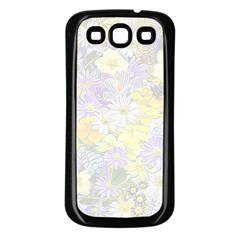 Spring Flowers Soft Samsung Galaxy S3 Back Case (Black)