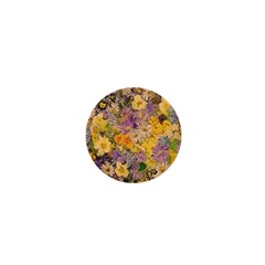 Spring Flowers Effect 1  Mini Button Magnet