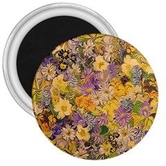 Spring Flowers Effect 3  Button Magnet