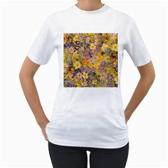 Spring Flowers Effect Womens  T Shirt (white)