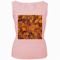 Spring Flowers Effect Womens  Tank Top (Pink)