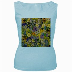 Spring Flowers Effect Womens  Tank Top (Baby Blue)