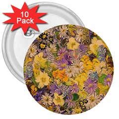 Spring Flowers Effect 3  Button (10 Pack)