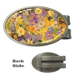 Spring Flowers Effect Money Clip (Oval)