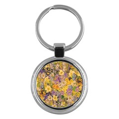 Spring Flowers Effect Key Chain (round)